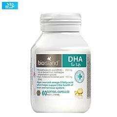 Bio island 海藻油DHA 脑黄金 60粒 (1月-12岁)