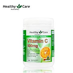 Healthy care 维他命c 500mg 500粒