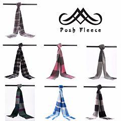 Posh Fleece 澳洲美利奴羊毛围巾 格纹系列一